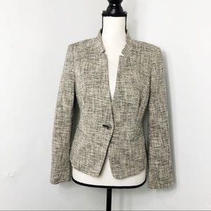 LOFT Notched Collar Single Button Blazer Jacket 8P